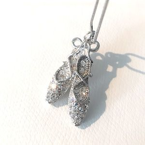 ✨Ballet Shoes Rhinestone Necklace 🩰